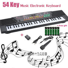 54 Keys Music Electronic Keyboard Kid Electric Piano Organ W/Mic & Adapter 2018