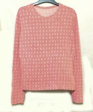 CELINE PARIS LOGO cotton pink pullover
