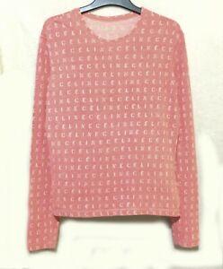 CELINE PARIS LOGO cotton pink pullover