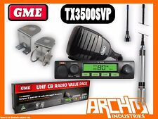 GME TX3500SVP UHF CB RADIO- 80CH 5 WATT DSP ANTENNA COMPACT VALUE PACK