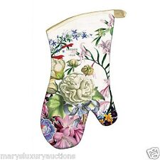 """Romance"" Extended Length Oven Mitt with Hanging Loop by Michel Design Works"