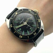 POLJOT Amphibian Rare Waterproof USSR Automatic SU Watch Bezel Date Soviet Diver