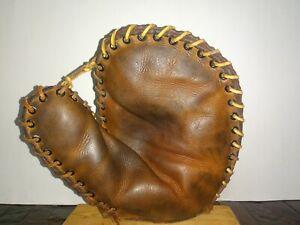 Vintage 1930's Trusport First Baseman's Glove