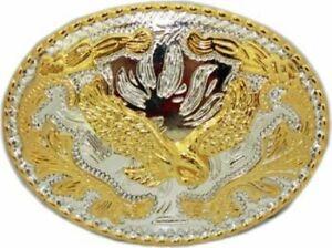Oversize BIG BALD EAGLE Belt Buckle Silver GOLD Western Cowboy Large ea48