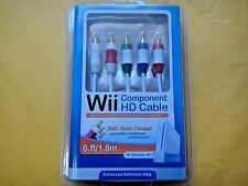 WOW High Definition Premium Component Audio Video AV Cable Cord for Nintendo WII