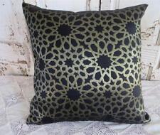 Black & Metallic Gold 'CHESNEY' Cushion Cover 45cm