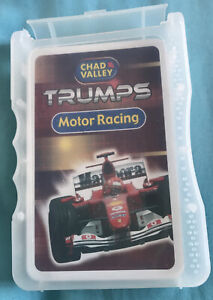 Motor Racing Top Trumps Chad Valley Large Version Open Never Used Mint Rare