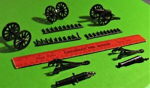 MARX ..RECAST....3 FORT APACHE/ALAMO CANNONS WITH SHELL SPRUES.....