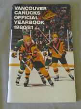 Original NHL Vancouver Canucks 1980-81 Official Hockey Media Guide