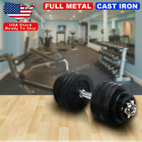 52.5lb Chrome Black Plated Adjustable Weight Dumbbell for Gym Exercise