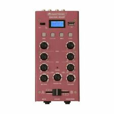 Omnitronic Gnome 202P Mini DJ Mixer With Bluetooth & MP3 Player (red)