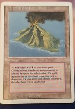 Volcanic Island Revised 3rd Edition LP 8/10 MTG Magic Dual Land English Light