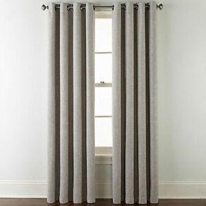 2 JC Penney Sullivan Blackout Grommet Oxide Gray Curtain  Drape Panels 50 x 95