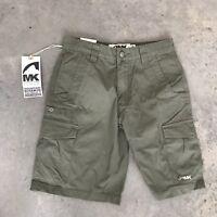 MK Jackson Hole Wyoming Olive Green Bermuda Womens Cargo Shorts BH 28 x 10 28x10