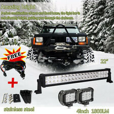 20in/24inch LED Light Bar +2pcs 4inch CREE LED Lights Pods Jeep Truck SUV ATV 22