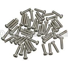 50PCS M2X6mm Screws Stainless Steel Round Head Plain End Phillips Metric Machine
