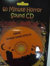 HORROR SOUND EFFECTS CD-60 Minutes Halloween Haunted Spooky Sound FX Friday 13th