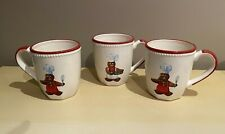 Williams Sonoma Gingerbread Chef Set of 3 Mugs