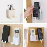 Wall Mounted Holder Home Remote Control Mobile Phone Storage Box Pen Plug Organ