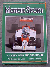 Motor Sport (May 1988) Lola T70, Mazda RX7, Aston DB4GT, Brabham, Brazil GP
