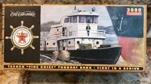2000 Texaco Fire Chief Tugboat Bank First #1 in Nautical Series Ertl Oil Gas NIB