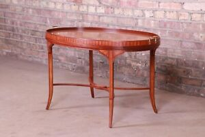 Baker Furniture Historic Charleston Inlaid Mahogany and Satinwood Coffee Table
