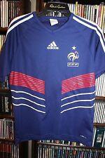 Adidas FFF France Football Soccer Jersey Blue Mens S  (bin113)