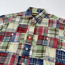 New listing Ralph Lauren RUGBY Plaid Patchwork Flannel Button Down Shirt Size Medium