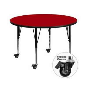 Flash Furniture  Activity Table - XU-A48-RND-RED-T-P-CAS-GG
