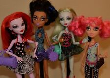 Mattel Monster High Dance Class Dolls Howleen Robecca Operetta Lagoona Lot