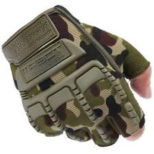 Men's Army Military Tactical Combat Bicycle Airsoft Half Finger Gloves