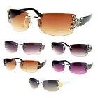 Butterfly Design Women's Fashion Sunglasses Rimless Black New