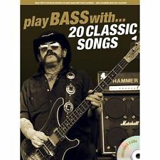 Play Bass With... 20 Classic Songs, Good Condition Book, Various, ISBN 978178305