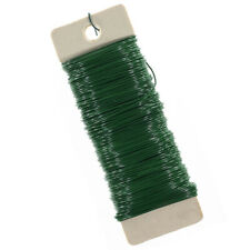 Craft County Floral Paddle Wire - 22 Gauge Wire Green Plastic Cover