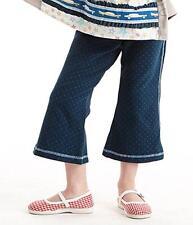 Matilda Jane FOOTLOOSE Straightees 2 Girl's Cropped Flare Navy Dot Secret Fields