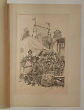 E A Abbey pen and ink original '... with Jockey to the Fair' 1886