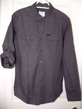 Marc Ecko Cut & Sew Button Down Shirt-M  Sleeve roll tabs, button flap pockets!