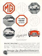 1959 Mg Mga 1600 Original Advertisement Print Art Car Ad J690