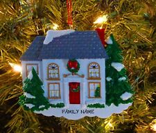 Red Front Door & Wreath - Our First Home Personalized Christmas Tree Ornament