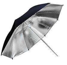 "33"" 83cm Pro Studio Flash Reflector Black Silver Umbrella For Photo Photography"
