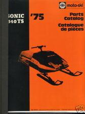 1975 Moto-Ski Sonic 340Ts Snowmobile Parts Manual (167)