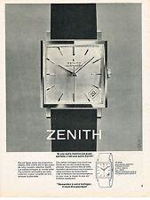 PUBLICITE ADVERTISING  1963   ZENITH   montre parfaite