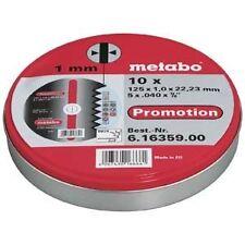 10x Disques a tronconner diametre 125mm INOX METABO meuler acier metal ultra fin