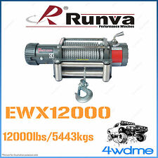 Runva EWX12000 12V 12000lbs 5443kgs W/Steel Cable Recovery Offroad 4WD Winch