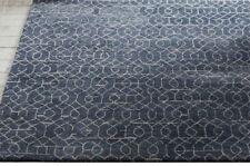 New Wool Rug P B Tailor Indigo Hand Tufted Abstract Geometric 3x5 5x8 8x10 9x12