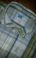 Mens Columbia Plaid Outdoors Short Sleeve Button Up Shirt XL X-Large