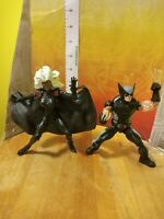 Marvel Legends Hasbro Wolverine X-Force & storm black outfit figure lot X-Men
