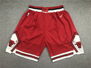 New Adult Size Red Color Chicago Bulls Shorts S M L XL XXL