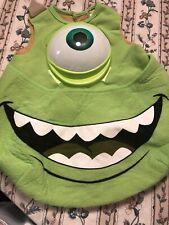 Used Boys Girl Disney Monsters Inc Mike Wasowski Halloween Costume 1-4 Yrs