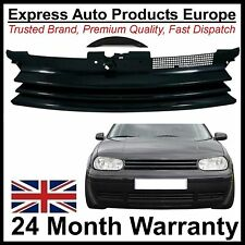 Debadged Black Badgeless Lo-Wide Grille VW Golf Mk4 With Badge Fill